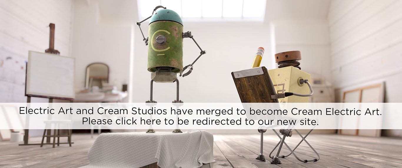 Electric Art and Cream Studios have merged to become Cream Electric Art. Click here to be redirected to our new site.